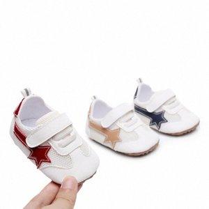 Estate pattini delle neonate Firstwalkers microfibra Mesh bambino shopes suola dura gomma antiscivolo delle ragazze del bambino Pattini kNPo #