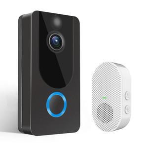 1080P WiFi Video Doorbell V7 Smart IP Video Intercom Free Cloud Recording For Apartment IR Alarm Wireless Security Camera