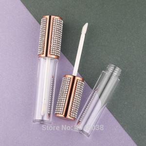 5ml brillo de labios varita Tubos con diamantes de imitación vaciar contenedores de estética de oro rosa de Lip Glaze Lipgloss tubo de embalaje 30pcs 50pcs