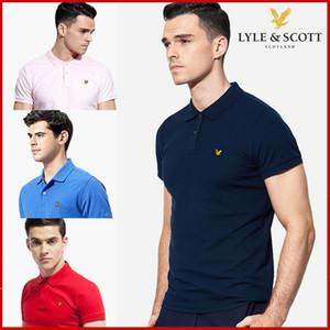 Günlük Polos Gömlek Yaz Çizgili Baskı Tasarımcı Aşağı Yaka Tişörtler Hombres Polo Mens Tasarımcısı Patchwork Lyle Scott çevirin