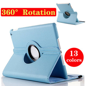 Tablet PC for ipad case 360 degree rotation smart stand PU leather for ipad air2 case for ipad5 6 mini4 retina free shipping