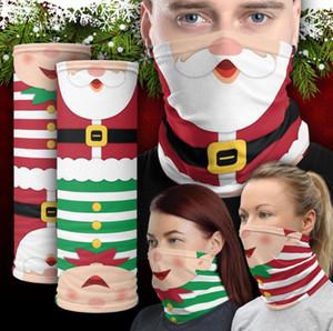 Face Shield Chirstmas Магия платке Открытый Спорт Оголовье Шарфы Dustpoof Cycing Headwrap Visor шеи Gaiter Рождество Decora LSK667