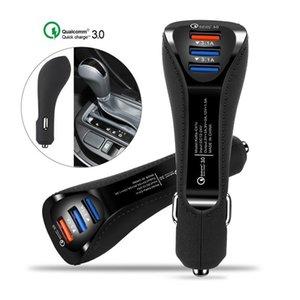 포장 품질 관리 3 0.0 빠른 충전기 3 .1A의 USB 듀얼 포트 차량용 충전기 유형 C 안드로이드 스마트 폰 태블릿 충전기 어댑터