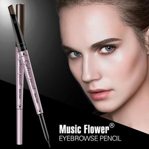 Double head is not blooming 2 in 1 eyebrow pencil waterproof and sweat lasting triangle can be rotated eyebrow pencil