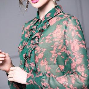 rBKJN UyO5P yüksek uzun kollu elbise 2020 Bahar Yeni bel Zhili dikiş etek iki parçalı kadın Gömlek gömlek için karıştırdı karıştırdı