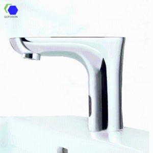 QCFOISON aseos inducción fregadero grifo automático del filtro inteligente de agua mezclada parada Mercado protector de infrarrojos del grifo