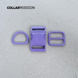 Розничная торговля (металлическая пряжка + регулировка пряжки + D кольцо / комплект) DIY ошейник фиолетово 25мм лямки шитья аксессуар спрей набор краска пряжка