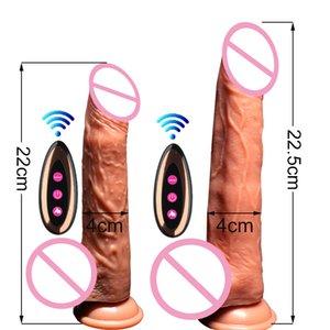 لاسلكي دسار واقعية دسار الهزاز التدفئة الكهربائية بالاهتزاز الكبير ضخمة القضيب G بقعة ألعاب مثيرة للمرأة قابلة للشحن USB