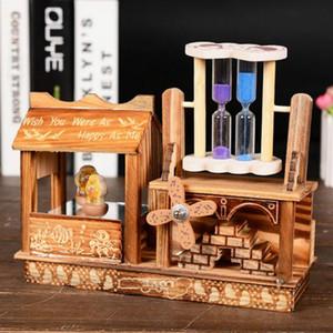 Nouvelle roue en forme de gâteau d'anniversaire musique en bois Boîte Jouet Décoration anniversaire Mignon Cadeau de Noël Cadeau Objets de décoration Figurines