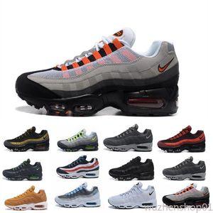 2019 Cuscino Mens Running Shoes autentici scarpe sportive per gli uomini Top Sneakers camminare scarpe outdoor Grey Man Training Maxes uk40-45 wu01