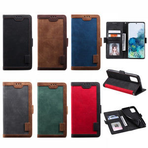 HH Luxury Hybrid Retro Wallet PU Leather Case For iPhone 12 Samsung Note 20 Ultra A51 A71 5G A31 A21 RedMi 9A 9C Note 9