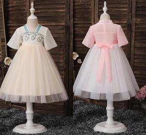 hanfu ragazze di abbigliamento per bambini 2020 di estate il nuovo sottile a maniche corte costume antico leggiadramente eccellente pannello esterno del vestito stile fata cinese
