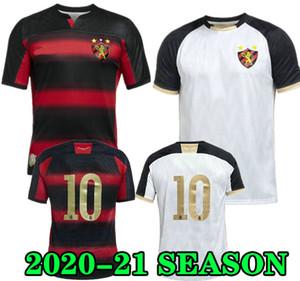 헤르 난 (20) (21) 스포츠 레시 페 홈 축구 유니폼 GUILHERME 샌더 2020 2021 흰색 멀리 축구 셔츠 클럽 MAILSON ADRYELSON CHARLES 빨간색