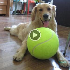 24CM Big Iatable palla da tennis gigante Big Giant Pet Dog cucciolo Tennis Ball Thrower Chucker Launcher Gioca Giocattolo Outdoor Sports Tennis Balls + B