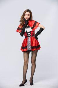 H4RJb yeni xintian Yao wanshengjie yetişkin Kırmızı masal Küçük Cosplay Hat giyim giyim Kırmızı Başlıklı Kız klasik sahne kıyafeti set