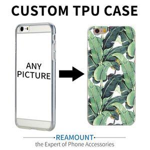 100pcs Custom Design TPU Transparente bricolaje 6s 5s Caso 6plus teléfono celular impresión modificada para requisitos 7 para Iphone 7 Plus