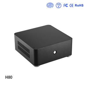 caja de la computadora E.mini H80 Mini ITX Caja de aluminio del chasis HTPC con el envío libre de la fuente de alimentación