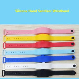 Gel Mani Hand Sanitizer Bracciale per adulti bambini bagagli Wristband Dispenser Wearable silicone Sunscreen Lotion Dispenser Refill Bottle OWE1882