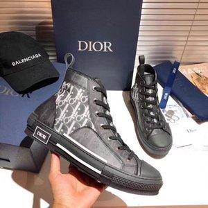 Конверс DIOR Homme Black Oblique Kaws Ким Джонс Мужчины Женщина модельеры Повседневная обувь Высокая Лучшая баскетбольные кроссовки Скейтборд обувь