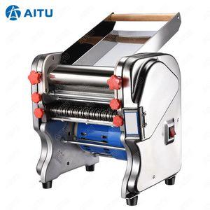 FKM240 550W / 750W 220V / 110V aço inoxidável Comercial Elétrica Noodle Fazendo a massa Criador Máquina Dough Roller Noodle Cutting