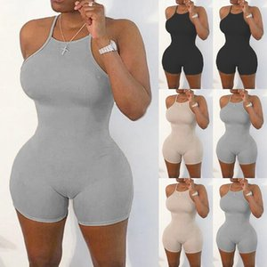 Womens Lingeris Moda Bodysuit mulheres elegantes Corpo Sexy Spaghetti Strap Bodycon Jumpsuit Romper 2020 Verão Curto