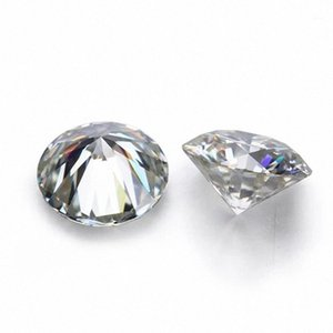 D White Color VVS Round Shape Loose Synthetic Moissanite Diamond 0.6CT to 2CT Excellent Cut1 KYaf#