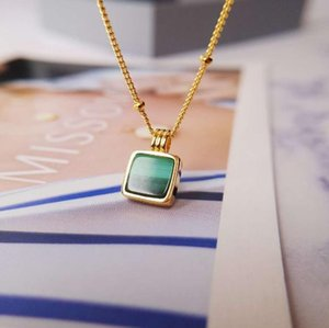 necklace exquisite senior peacock green pendant small necklace women party daily jewelry gift