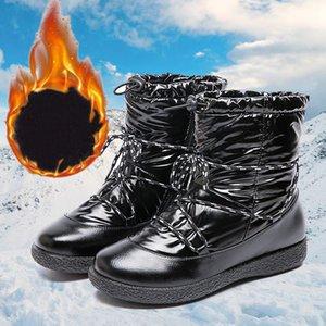 Waterproof Winter Warm Women Ankle Boots Round Toe Flat Ladies Walking Snow Shoes Outdoor Sport Sneakers Female Casual Footwear