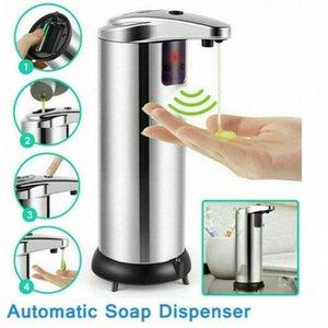 Automatic Soap Dispenser Liquid Soap Dispensers Stainless Steel Sensor Dispenser 250ml Handsfree Dispensers Bath Toys CCA12287 50pcs oqQE#