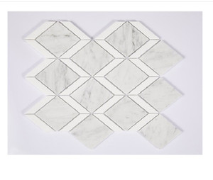 2020 hot sale Natural stone crystal white diamond natural marble mosaic TV background wall tile interior wall tile A02