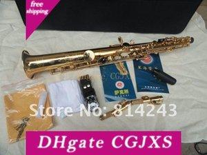 Intagliato nuovo arrivo Xinghai Ss -100 Soprano dritto Tubo Sassofono Ottone Oro lacca superficiale Sax mano goccia B strumento musicale