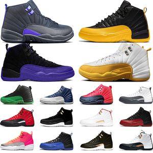 Nike Air Jordan 12 Retro 12 12 s Basketball-Schuhe für Männer 2019 New Midnight Black Flu-Spiel The Master Gym Rot CNY Taxi Designer XII Trainer Sport Turnschuhe