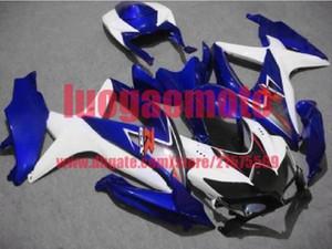 Injection white blue bodywork kit for SUZUKI GSXR600 750 K8 08 09 10 Bodywork GSXR 600 GSXR750 2008 2009 2010 Fairings kit+7Gifts