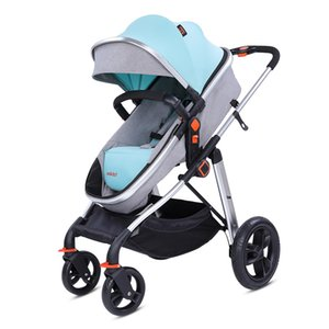 Luxury Flower High Landscape Baby Stroller Can Sit Reclining Folding Lightweight Two-way Baby Stroller Carriage
