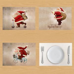 Joyeux Noël Père Noël serviette de table créative Décoration de Noël Père Noël Drapier Mat Set de table onderzetters Napkins