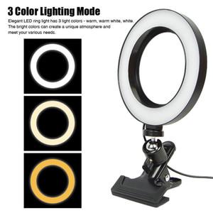 Anello LED luce di riempimento con clip dimmerabili Camera Phone lampada dell'anello Fotografia Ringlight per il telefono cellulare Computer Trucco Video Live Studio
