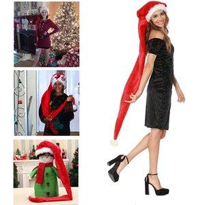 Super Long Adult Children Christmas Hat Plush Santa Claus Cap Christmas Ornament Decoration Dancing Party Xmas Tree Decor Props