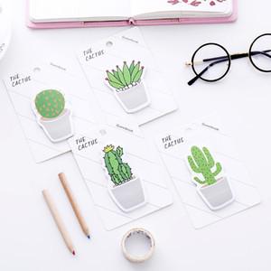Sevimli Cactus Not kağıdı Memo Pad Yapışkan Not Sticker Memo Kitap Not kağıdı Okul Malzemeleri (30pcs) # 058