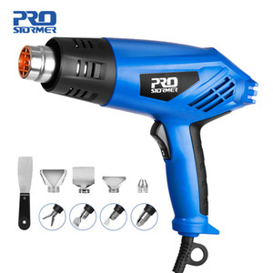 2000W Heat Gun Variable 2 Temperatures Electric Hot Air Gun with Four Nozzle Attachments Industrial Power Tool by PROSTORMER