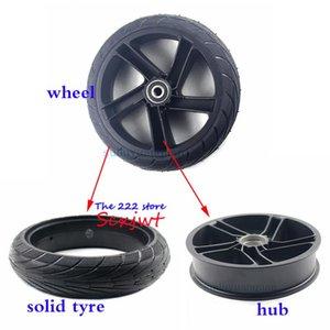 8 인치 휠 200x50 고체 타이어 합금 허브 Ninebot Segway ES1 ES2 ES4 전기 스쿠터 후륜 방폭형 타이어
