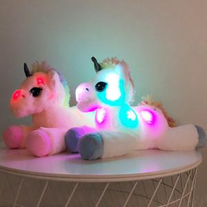 40cm LED Unicorn Plush Toys Light Up Stuffed Animals Unicorn Cute Luminous Horse Soft Doll Toy for Kid Girl Xmas Birthday Gift Lighted Toys