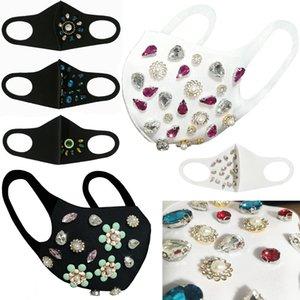 Nuevos blingbling grande de diamantes de imitación de diseño de algodón Máscaras cara personalizada flash de moda estereoscópica máscara máscaras de algodón lavable adultos