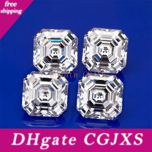 Moissanite Diamante all'ingrosso Def bianco di alta qualità del Lab 7x7mm Grown Asscher Cut Loose Moissanite pietra preziosa del diamante