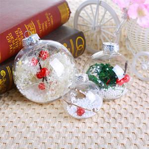 2020 New Year Dekorationen Christmas Ball Ornamente transparente Kugel hohle Kugel-Kinder Kleine Geschenke Restaurant Bar Schmuck Großhandel