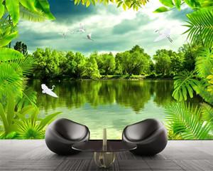 Foto Personalizado 3D Wallpaper Tropical Rainforest Sonho Forest Nature HD Modern Home Decoração Wallpaper