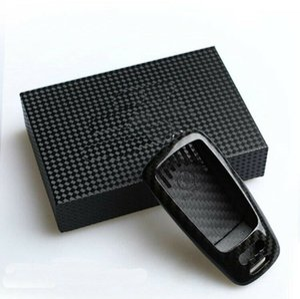 For Audi A4 S4 S5 TT 17-18 High quality carbon fibre Remote Control Car Key Case wallet Bag Cover