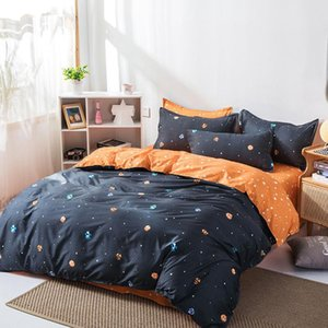 Starry Sky Print 4pcs Bed Cover Set Kid Boy Girl Duvet Cover Adult Child Bed Sheets And Pillowcases Comforter Bedding Set J059