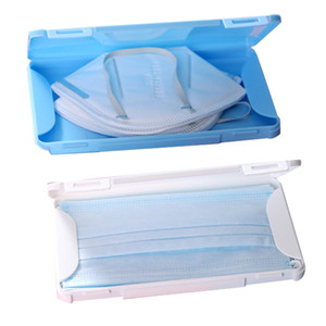 100PCS Plastic Mask Storage Box Dust Proof Moisture Proof Clear Container Portable Organizer Box For Facemask