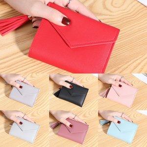 bolsa de multi-tarjeta Liu Su bolso de la tarjeta corta inconformista las nuevas mujeres de Corea 2019 billetera cartera cartera LFREf