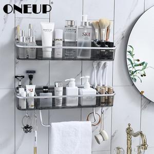 OneUp Wall-montado armazenamento Rack sem costura adesivos para cozinha Casa de Banho tempero Cosmetic toalha Storage Início Banho Acessó
